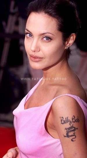 angelina jolie luce tatuaje con nombre en el antebrazo Tatuajes de Nombres