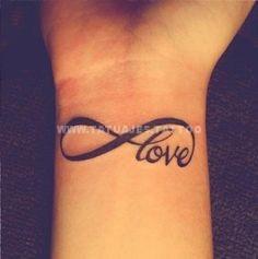 Signo Infinito Frase Love Life Aves Tatuajes Para Mujeres