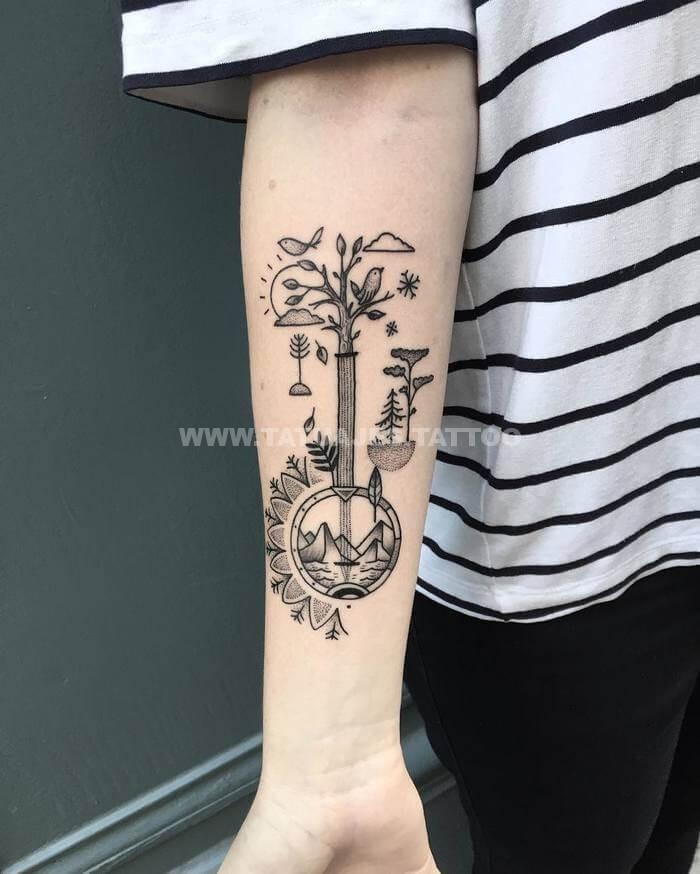 50 Ideas De Tatuajes De Abstractos Foto Y Significado