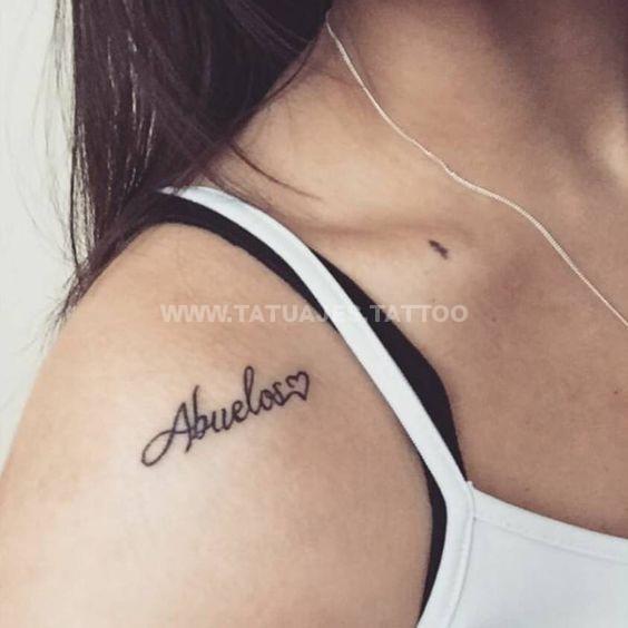 50 Ideas De Tatuajes De Abuelos Foto Y Significado