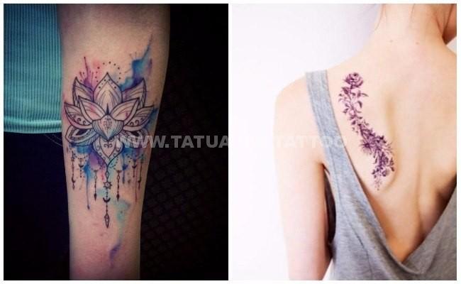 +50 ideas de 【 Tatuajes de Acuarela 】 📷 Foto y significado