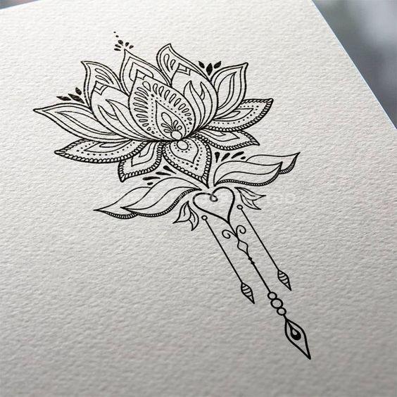 50 Ideas De Tatuajes De Flor De Loto Foto Y Significado
