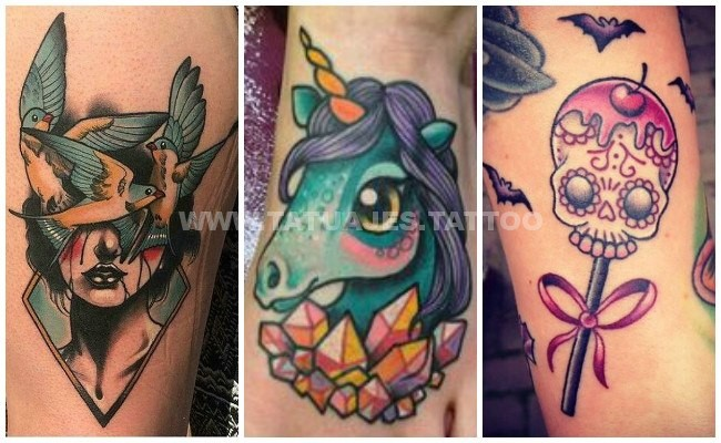 50 Ideas De Tatuajes De New School Foto Y Significado