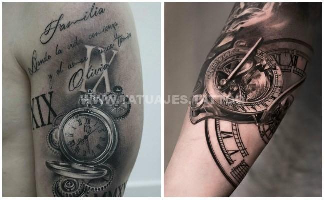 50 ideas de � tatuajes de relojes � ��� foto y significado