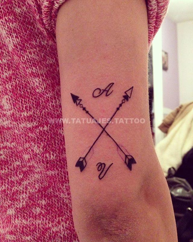 d75d5dc0d1c7c5dd33ddf09bfbee8b37 hipster arrows Tatuajes de Iniciales